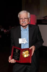 Preston Wheeler receiving the Life Time Achievement Award at the SSVFD 100th Anniversary Dinner and Awards Ceremony at The Fillmore Theatre. June 6, 2015